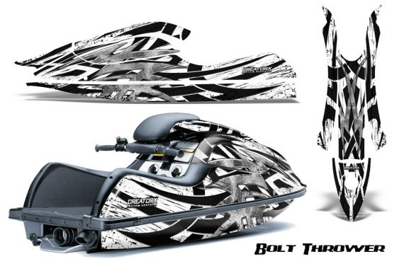 Kawasaki JetSki SX R800 CreatorX Graphics Kit Bolt Thrower White 570x376 - Kawasaki 800 SX-R Jet Ski 2003-2012 Graphics