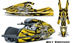 Kawasaki JetSki SX R800 CreatorX Graphics Kit Bolt Thrower Yellow 150x90 - Kawasaki 800 SX-R Jet Ski 2003-2012 Graphics
