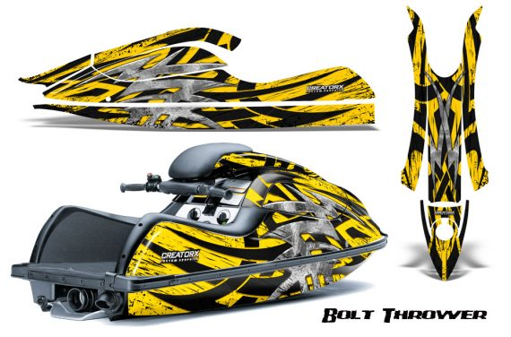 Kawasaki JetSki SX R800 CreatorX Graphics Kit Bolt Thrower Yellow 570x376 - Kawasaki 800 SX-R Jet Ski 2003-2012 Graphics