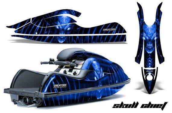 Kawasaki JetSki SX R800 CreatorX Graphics Kit Skull Chief Blue 570x376 - Kawasaki 800 SX-R Jet Ski 2003-2012 Graphics