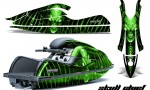 Kawasaki JetSki SX R800 CreatorX Graphics Kit Skull Chief Green 150x90 - Kawasaki 800 SX-R Jet Ski 2003-2012 Graphics