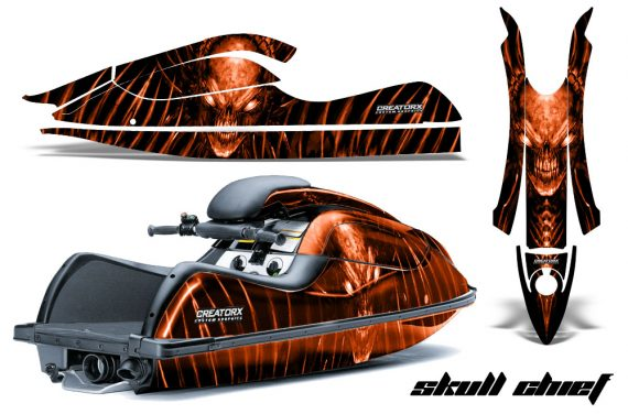 Kawasaki JetSki SX R800 CreatorX Graphics Kit Skull Chief Orange 570x376 - Kawasaki 800 SX-R Jet Ski 2003-2012 Graphics