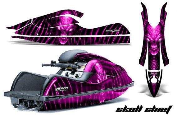Kawasaki JetSki SX R800 CreatorX Graphics Kit Skull Chief Pink 570x376 - Kawasaki 800 SX-R Jet Ski 2003-2012 Graphics