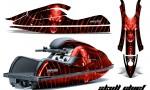 Kawasaki JetSki SX R800 CreatorX Graphics Kit Skull Chief Red 150x90 - Kawasaki 800 SX-R Jet Ski 2003-2012 Graphics