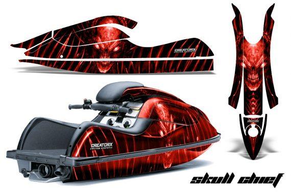 Kawasaki JetSki SX R800 CreatorX Graphics Kit Skull Chief Red 570x376 - Kawasaki 800 SX-R Jet Ski 2003-2012 Graphics