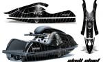 Kawasaki JetSki SX R800 CreatorX Graphics Kit Skull Chief Silver 150x90 - Kawasaki 800 SX-R Jet Ski 2003-2012 Graphics