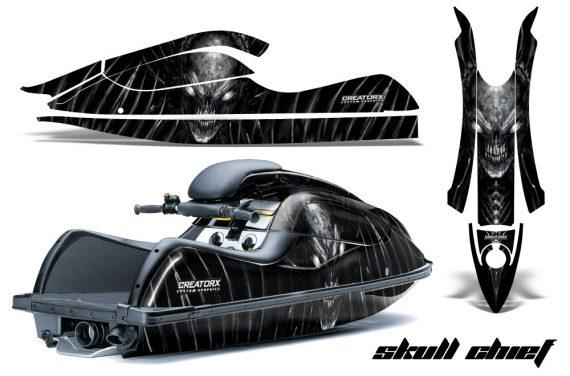 Kawasaki JetSki SX R800 CreatorX Graphics Kit Skull Chief Silver 570x376 - Kawasaki 800 SX-R Jet Ski 2003-2012 Graphics