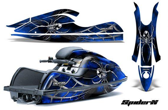 Kawasaki JetSki SX R800 CreatorX Graphics Kit SpiderX Blue 570x376 - Kawasaki 800 SX-R Jet Ski 2003-2012 Graphics