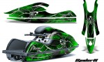 Kawasaki JetSki SX R800 CreatorX Graphics Kit SpiderX Green 150x90 - Kawasaki 800 SX-R Jet Ski 2003-2012 Graphics