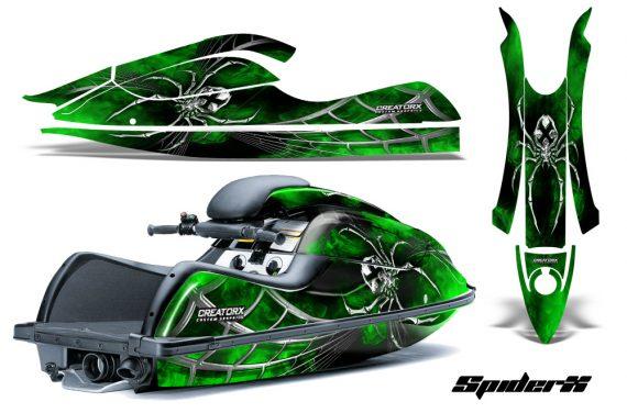 Kawasaki JetSki SX R800 CreatorX Graphics Kit SpiderX Green 570x376 - Kawasaki 800 SX-R Jet Ski 2003-2012 Graphics
