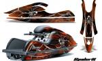 Kawasaki JetSki SX R800 CreatorX Graphics Kit SpiderX Orange 150x90 - Kawasaki 800 SX-R Jet Ski 2003-2012 Graphics