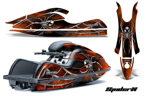 Kawasaki JetSki SX R800 CreatorX Graphics Kit SpiderX Orange 570x376 - Kawasaki 800 SX-R Jet Ski 2003-2012 Graphics