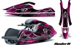 Kawasaki JetSki SX R800 CreatorX Graphics Kit SpiderX Pink 150x90 - Kawasaki 800 SX-R Jet Ski 2003-2012 Graphics