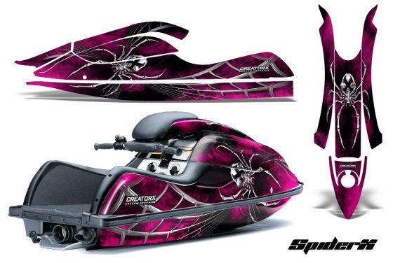 Kawasaki JetSki SX R800 CreatorX Graphics Kit SpiderX Pink 570x376 - Kawasaki 800 SX-R Jet Ski 2003-2012 Graphics