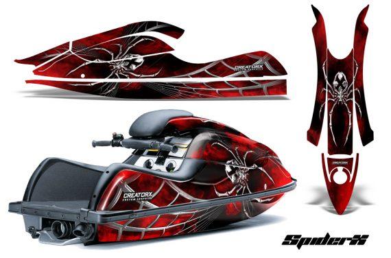 Kawasaki JetSki SX R800 CreatorX Graphics Kit SpiderX Red 570x376 - Kawasaki 800 SX-R Jet Ski 2003-2012 Graphics