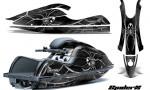Kawasaki JetSki SX R800 CreatorX Graphics Kit SpiderX Silver 150x90 - Kawasaki 800 SX-R Jet Ski 2003-2012 Graphics