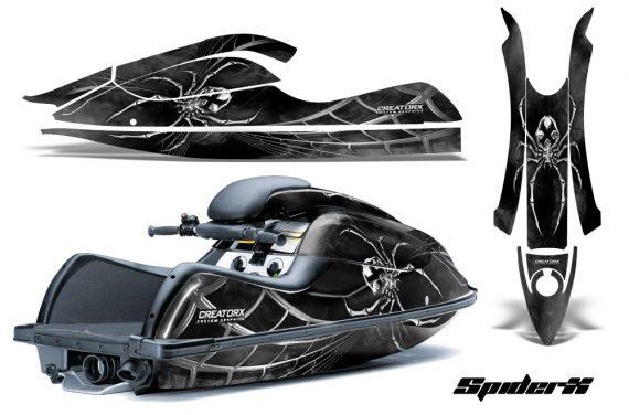 Kawasaki JetSki SX R800 CreatorX Graphics Kit SpiderX Silver 570x376 - Kawasaki 800 SX-R Jet Ski 2003-2012 Graphics