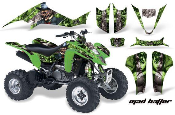 Kawasaki KFX 400 03 08 AMR Graphics MadHatter GreenSilverstripe 570x376 - Kawasaki KFX 400 Graphics