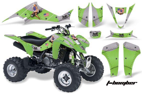 Kawasaki KFX 400 03 08 AMR Graphics TBomber Green 570x376 - Kawasaki KFX 400 Graphics