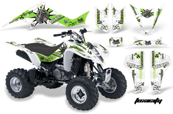 Kawasaki KFX 400 03 08 AMR Graphics Toxicity GreenWhiteBG 570x376 - Kawasaki KFX 400 Graphics