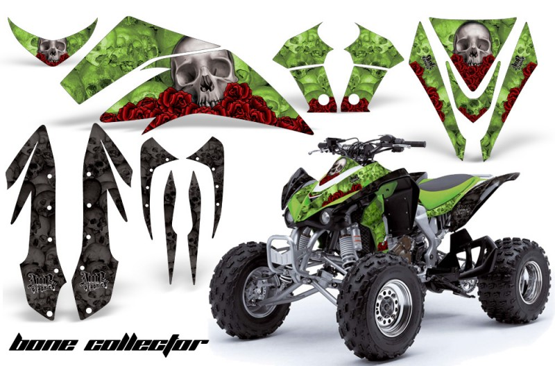 Kawasaki-KFX-450-AMR-Graphic-Kit-BONE-COLLECTOR-GREEN-INSTALL