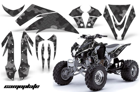 Kawasaki KFX 450 AMR Graphic Kit Camoplate BLACK INSTALL 570x376 - Kawasaki KFX 450 Graphics