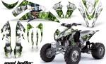 Kawasaki KFX 450 AMR Graphic Kit MADHATTER GREEN WHITESTRIPE 150x90 - Kawasaki KFX 450 Graphics