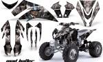 Kawasaki KFX 450 AMR Graphic Kit MadHatter BLACK SILVERSTRIPE INSTALL 150x90 - Kawasaki KFX 450 Graphics