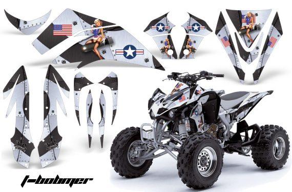 Kawasaki KFX 450 AMR Graphic Kit TBomber WHITE INSTALL 570x376 - Kawasaki KFX 450 Graphics