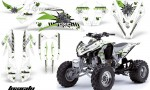 Kawasaki KFX 450 AMR Graphic Kit Toxicity GREEN WHITEBG INSTALL 150x90 - Kawasaki KFX 450 Graphics