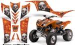 Kawasaki KFX 700 AMR Graphic Kit BoneCollector Orange 150x90 - Kawasaki KFX 700 Graphics