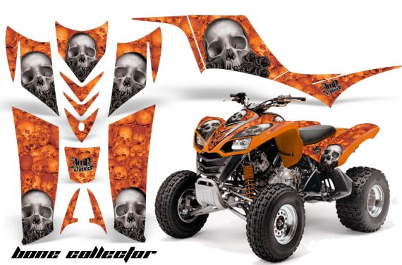 Kawasaki KFX 700 AMR Graphic Kit BoneCollector Orange 570x376 - Kawasaki KFX 700 Graphics