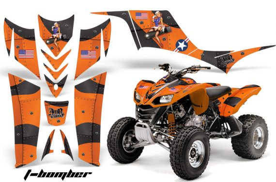Kawasaki KFX 700 AMR Graphic Kit TBomber Orange 570x376 - Kawasaki KFX 700 Graphics