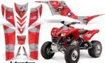 Kawasaki KFX 700 AMR Graphic Kit TBomber Red 150x90 - Kawasaki KFX 700 Graphics