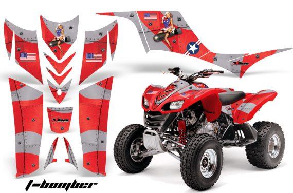 Kawasaki KFX 700 AMR Graphic Kit TBomber Red 570x376 - Kawasaki KFX 700 Graphics