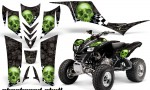 Kawasaki KFX 700 AMR Graphic Kit checkeredskull greenblkbg 150x90 - Kawasaki KFX 700 Graphics