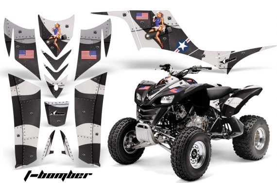 Kawasaki KFX 700 AMR Graphic Kit tbomber black 570x376 - Kawasaki KFX 700 Graphics