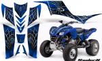 Kawasaki KFX 700 CreatorX Graphics Kit SpiderX Blue 150x90 - Kawasaki KFX 700 Graphics