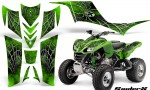 Kawasaki KFX 700 CreatorX Graphics Kit SpiderX Green 150x90 - Kawasaki KFX 700 Graphics