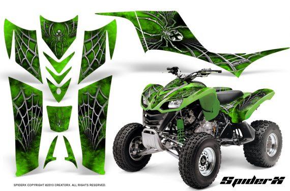 Kawasaki KFX 700 CreatorX Graphics Kit SpiderX Green 570x376 - Kawasaki KFX 700 Graphics