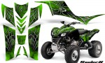 Kawasaki KFX 700 CreatorX Graphics Kit SpiderX Green BB 150x90 - Kawasaki KFX 700 Graphics