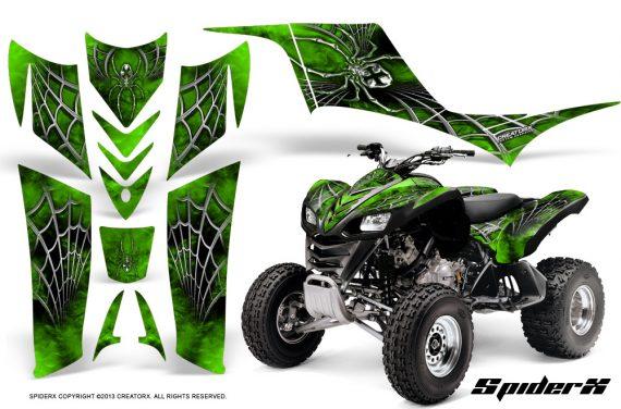 Kawasaki KFX 700 CreatorX Graphics Kit SpiderX Green BB 570x376 - Kawasaki KFX 700 Graphics