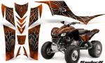 Kawasaki KFX 700 CreatorX Graphics Kit SpiderX Orange 150x90 - Kawasaki KFX 700 Graphics