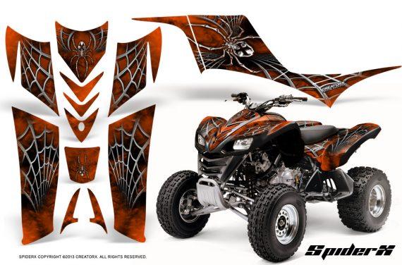 Kawasaki KFX 700 CreatorX Graphics Kit SpiderX Orange 570x376 - Kawasaki KFX 700 Graphics