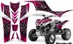 Kawasaki KFX 700 CreatorX Graphics Kit SpiderX Pink 150x90 - Kawasaki KFX 700 Graphics