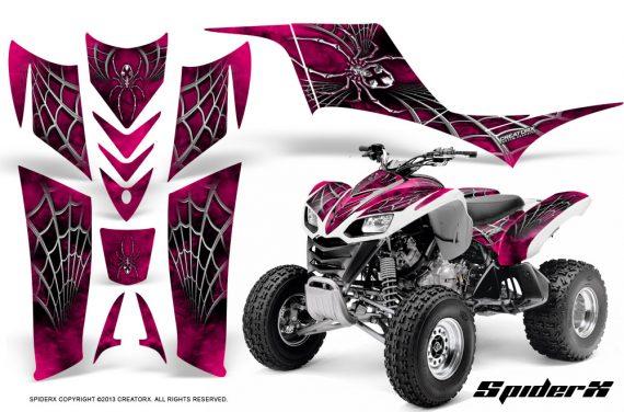 Kawasaki KFX 700 CreatorX Graphics Kit SpiderX Pink 570x376 - Kawasaki KFX 700 Graphics