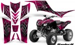 Kawasaki KFX 700 CreatorX Graphics Kit SpiderX Pink BB 150x90 - Kawasaki KFX 700 Graphics