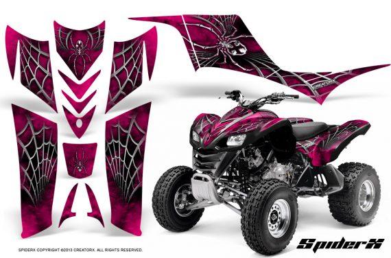Kawasaki KFX 700 CreatorX Graphics Kit SpiderX Pink BB 570x376 - Kawasaki KFX 700 Graphics