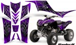 Kawasaki KFX 700 CreatorX Graphics Kit SpiderX Purple 150x90 - Kawasaki KFX 700 Graphics