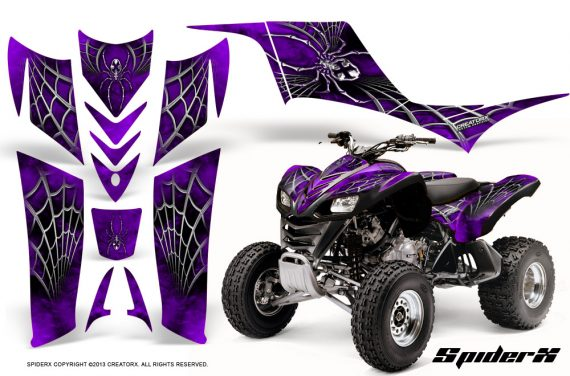 Kawasaki KFX 700 CreatorX Graphics Kit SpiderX Purple 570x376 - Kawasaki KFX 700 Graphics